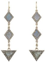 Lulu Frost Women's Antique Gold Plated Odeon Line Earrings