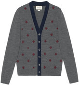 Gucci Wool cardigan with bees and stars