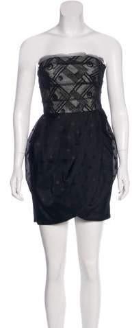 Jason Wu Dotted Strapless Dress