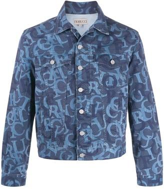 Fiorucci Nico jacquard-logo denim jacket