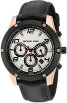 Michael Kors Men's Quartz Stainless Steel and Silicone Automatic Watch, Color: (Model: MK8489)
