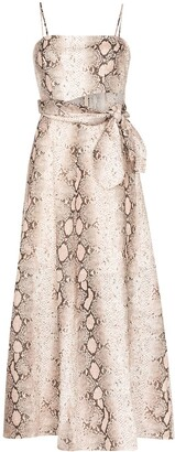 Zimmermann Bellitude snake-print maxi dress