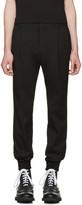 Juun.J Black Slim Cuff Trousers