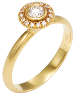 Rina Limor Fine Jewelry 18K Yellow Gold & 0.26 Total Ct. Diamond Halo Ring