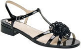Ros Hommerson Black Jackie Patent Leather T-Strap Sandal
