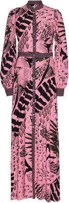 Temperley London Rosella Printed Crepe Maxi Dress