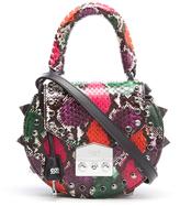 SALAR Women's Mimi Ring Snake Bag Verde/Rosso