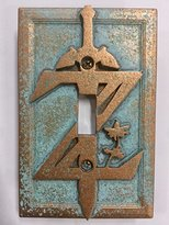 Breath of the Wild (Zelda) - Light Switch Cover (Aged Patina)