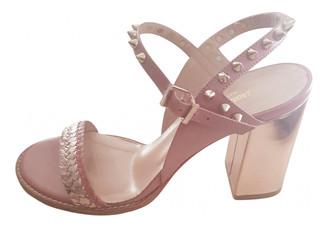 Zadig & Voltaire Vogue braids Pink Leather Sandals