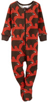 Tea Collection Oso Pardo Footed Pajamas (Baby Boys)