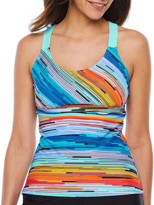 ZeroXposur Striped Tankini Swimsuit Top