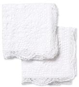 Melange Home Crochet Coverlet Euro Shams (Set of 2)
