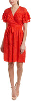 Rebecca Taylor Clip Silk-Blend A-Line Dress