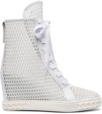 Casadei Mesh Wedge Boots