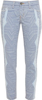 Current/Elliott + Mary Katrantzou The Stiletto printed low-rise skinny jeans