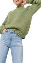 NA-KD Na Kd Cable Knit Mock Neck Sweater