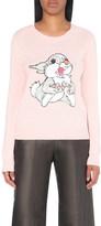 Markus Lupfer Thumper-embellished merino-wool jumper