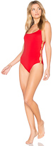 Solid & Striped The Jennifer One Piece in Red. - size L (also in XS)
