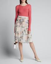 Jason Wu Collection Floral-Printed Crinkle Chiffon Dress