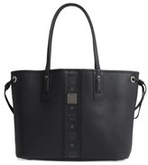 MCM Medium Liz Reversible Visetos Leather Shopper - Black