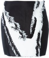 Versace printed mini skirt