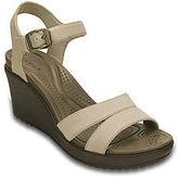 Crocs Womens Leigh II Ankle Strap Wedge Sandal