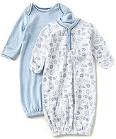 Starting Out Baby Boys Newborn-6 Months Safari-Print Gown 2-Pack