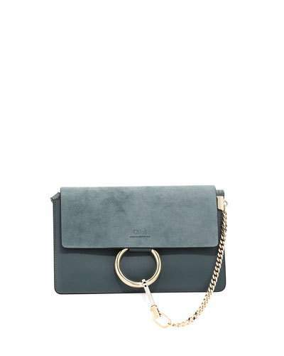 Chloé Faye Small Suede & Leather Shoulder Bag