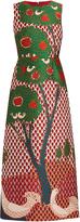 RED Valentino Fantasy Landscape-jacquard dress
