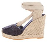 Tory Burch Floral-Accented Wedge Espadrilles