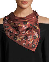 Valentino Daisy Composition Foulard Scarf