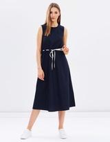 Warehouse Drawstring Waist Midi Dress