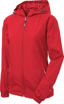 Sport-Tek - Ladies Colorblock Hooded Windbreaker Jacket. LST76