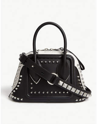 Alexander McQueen Studded Pinter small leather bowling bag