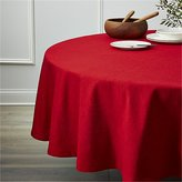 "Crate & Barrel Linden Ruby Red 90"" Round Tablecloth"
