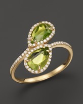 Bloomingdale's Peridot and Diamond Ring in 14K Yellow Gold, .20 ct. t.w.