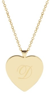 brook & york Isabel Initial Heart Gold-Plated Pendant Necklace