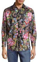 Robert Graham Himachai Printed Cotton Casual Button-Down Shirt