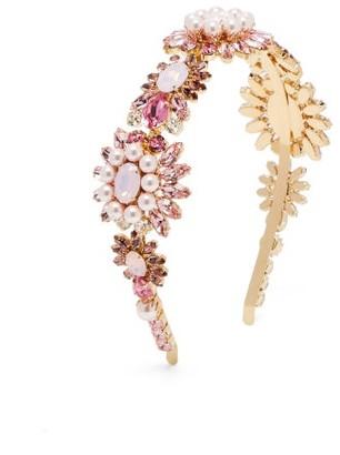 Dolce & Gabbana Crystal-embellished Headband - Pink