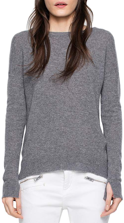 Zadig & Voltaire Cici Patched Cashmere Sweater