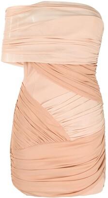 David Koma Draped Two-Tone Mini Dress