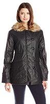 Sanctuary Women's Manhattan Parka Coat with Faux Fur Hood