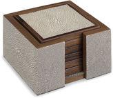 Regina-Andrew Design Regina Andrew Design S/6 Faux-Shagreen Coasters, Ivory