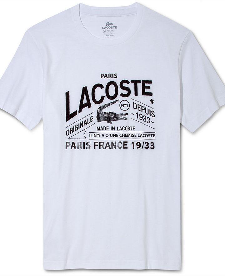 Lacoste Shirt, Logo Croc Graphic T-Shirt