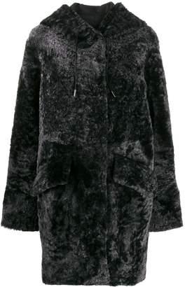 Drome shearling drawstring coat