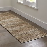 Crate & Barrel Luigi Jute-Blend Rug Runner