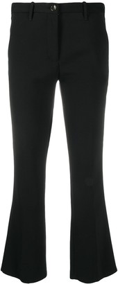 Nine In The Morning Cropped Flare Trousers