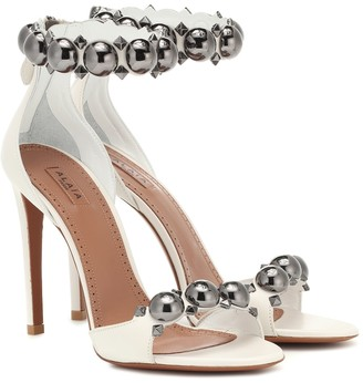 Alaia Bombe embellished leather sandals
