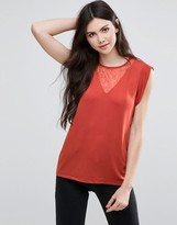 Vila Sleeveless Top With Ruffle Detail