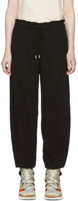Chloé Black Tapered Crepe Trousers